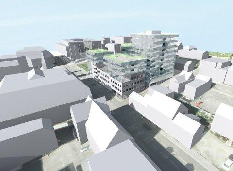 LANGVARIG: Planene for Nordlyskvartalet har vært endret flere ganger, på anmodning fra Tromsø kommune. Nå vender Fylkesmannen tommelen ned.