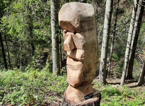 TROLSK: Området der denne figuren står skal ha blitt kalt Trolldalen, opplyser Dag Helland Pettersen i Turlaget.