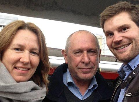 Alvdals-ordfører Johnny Hagen (i midten) var med til Oslo og representerte Regionrådet da Tynset-ordfører Merete Myhre Moen og varaordfører Nils Kristen Sandtrøen dro på nytt arkivtokt.