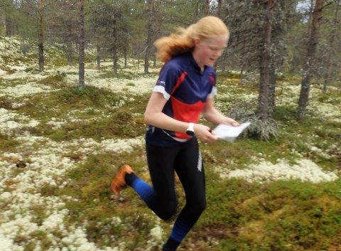 Nord- Østerdalsmester i D15-16: Eline Horten Jordet fra Vingelen.