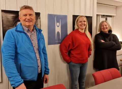 Nytt styre i Røros, Os og Holtålen lokallag. Fra venstre Geir Lundh, Milla Benedikte Lian og Gunn Anita Flaten. (Foto: Mariann Buås-Hansen)