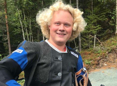 GULL: Amund Gultvedt fra Aas skytterlag tok 1. plassen i klasse Eldre Junior under Skytterstevnet Viken II i Sarpsborg.