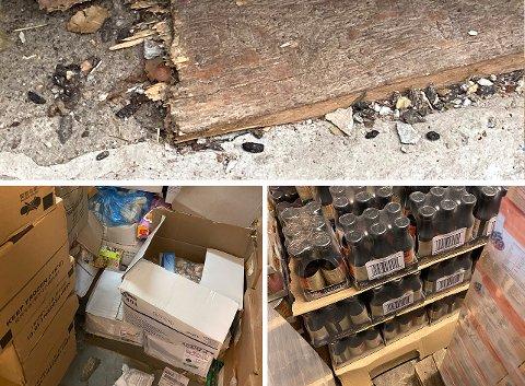 AVFØRING: Mattilsynet fant spor etter rotter i form av avføring flere steder i lokalet hvor butikken lagret mat. Lageret ble stengt umiddelbart og butikken fikk omsetningsforbud for varene.