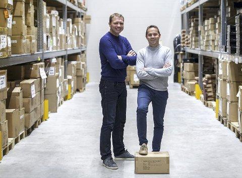 Jan Frode Skeie (t.v.) og Odd Arne Sjo Larsen i Sport Outlet og Sport Norge har oppnådd sterk vekst de siste årene, og har ambisjoner om å vokse ytterligere.