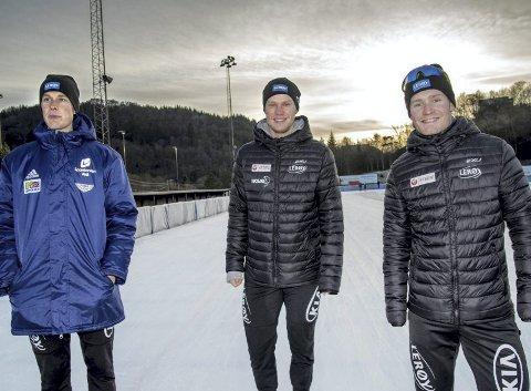 OL-vinnerne Sindre Henriksen, Håvard Holmefjord Lorentzen og Sverre Lunde Pedersen hedres på Bergens «Walk of Fame».