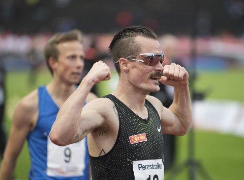 Henrik Ingebrigtsen annonserte at han ville komme igjen til neste år etter onsdagens 3000-meter i Trond Mohn Games. (Foto: Skjalg Ekeland)