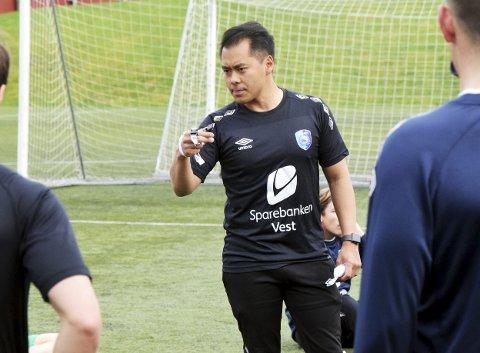Fyllingsdalen-trener Hiep Tran gleder seg ikke for mye over helgens resultater før hans eget lag eventuelt har slått Brann 2. ARKIVFOTO: Einar Lundsør.