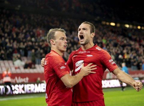 Brann har kun vunnet én av de fire siste bortekampene denne sesongen. Petter Strand og  Veton Berisha skal forsøke å gjøre noe med den statistikken i dag.