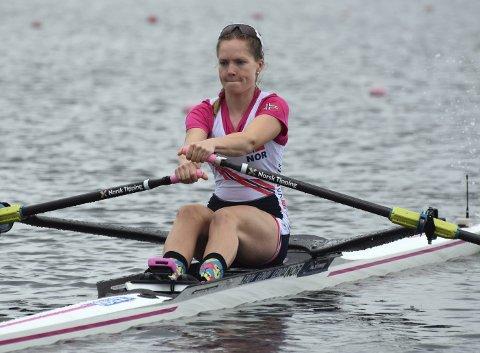 Maia Emilie Lund klarte helgens målsetting om semifinaleplass i verdenscupen i Rotterdam. Nå håper hun på en plass i VM-troppen som reiser til østerrikske Linz i august. Foto: Estela Reinoso