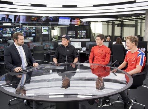 Triatletene Kristian Blummenfelt, Gustav Iden og Casper Stornes er tre av de tidligere elevene ved Tertnes vgs som har nådd verdenstoppen innen sin idrett. Her i et intervju med TV 2s Sander Smørdal.