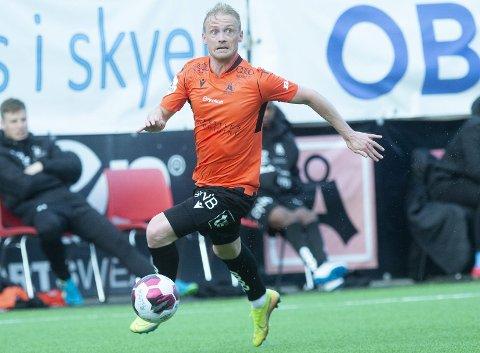 Skadeplaget: Geir André Herrem fikk 20 minutter som innbytter i seriepremieren mot Fredrikstad. Da pådro han seg en strekk i leggen som har holdt ham utenfor kamptroppen i de tre påfølgende kampene. Han fikk også en kjenning i låret mot Brann to uker før seristart.Foto: Magne Turøy