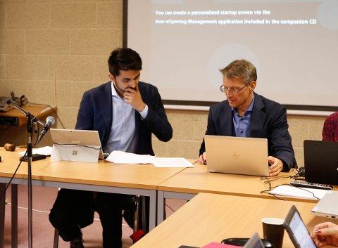 NOE Å TENKE PÅ: Ordfører Jonas Andersen Sayed (KrF) og rådmann Lars-Arne Oldernes må håndtere uro i kommuneledelsen.