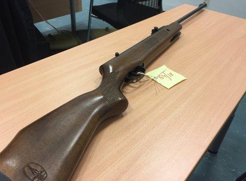 Dette luftgeværet ble beslaglagt i huset som kvinnene mener det ble skutt fra.