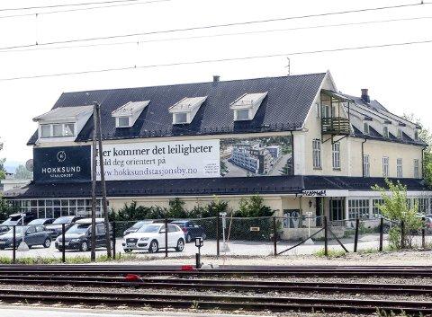 111 LEILIGHETER: Det planlegges tre byggetrinn og i alt 111 leiligheter i Hokksund Stasjonsby.