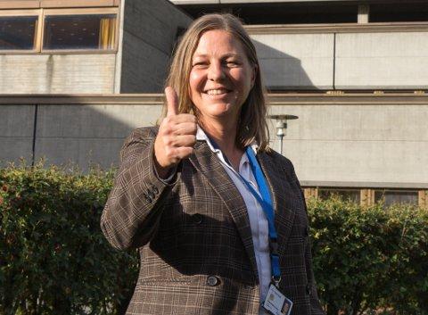 STOLT: Annette Fosse er prosjektleiar, og er veldig nøgd med at systemet er oppe å gå.