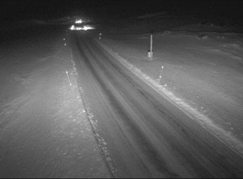 HEMSEDALSFJELLET: Slik såg det ut på Hemsedalsfjellet klokka 16.52 tysdag kveld. Kameraet står plassert 1140 m.o.h.