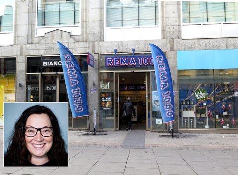 SVARER: Ann-Kristin Pettersen i Rema 1000 (innfelt) lover å ha de laveste prisene på varene som Kiwi har startet priskrig på.