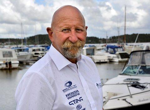 Daglig leder ved Skjebergkilens marina, Olav Eriksen frykter for regningen hvis de største båtene blir stående på land.
