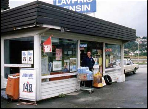 Slik så stasjonen, og Per Gausland, ut da han tok over i 1988