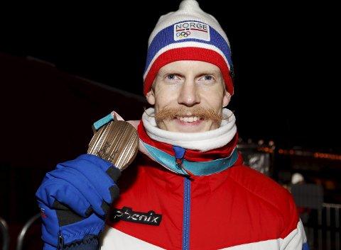 TRE MEDALJER: Robert Johansson har hatt et fantastisk OL med gull og to bronse. Foto: NTB scanpix