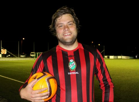 HATTRICK: Ole Morten Unum scoret tre mål da TTIF slo Trosvik 4-2 i Fredrikstad fredag kveld.