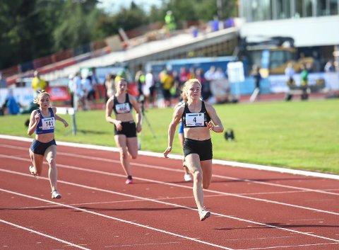 Henriette Jæger i UM friidrett på Jessheim.