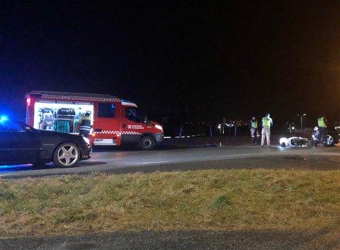 SAMMENSTØT: En bil og moped kolliderte torsdag morgen på Vormedal