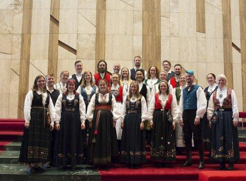 Bocca og grex vocalis: Kammerkoret Bocca (bildet) synger sammen med Grex Vocalis i Aksdal kirke lørdag.