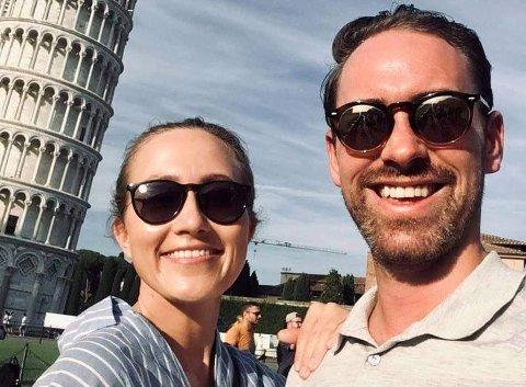 TENKTE NYTT: Samboerparet Kristine Olden Tveit og Mathias Gunnes sliter med å finne ny bolig på Haugalandet.