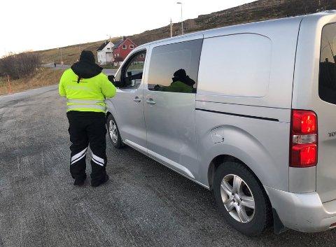 KONTROLLER: Statens vegvesen har i dag holdt kjøretøykontroller tre forskjellige steder i Hammerfest kommune.