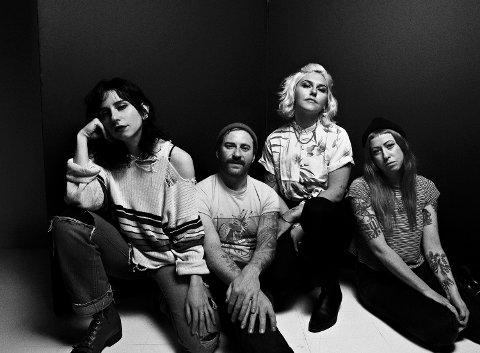 DOBBEL DOSE: Det amerikanske rockebandet Feels skal spela både på dagtid og på Ranglerock-scena komande laurdag.