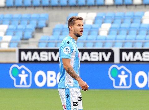 Tord Salte blir lånt ut til Sogndal. Her som Sandnes Ulf-spiller i 2020.