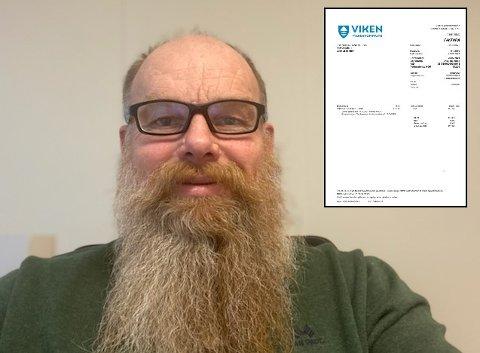 BLE STRAFFET: Hans-Petter Trondsen får nå en reaksjon etter at han lørdag satte opp et innkjøpt skilt i et kryss på Jessheim.