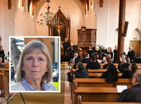 KONSERT: I forkant av konserten lørdag, mottok flere uhyggelige meldinger. En av dem var Merete Valstad.