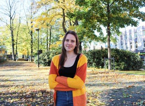 FÅR HJELP: Sofie Thelin forteller at hun har psykiske utfordringer og en spiseforstyrrelse, men at hun får god hjelp av skolen helsevesenet.
