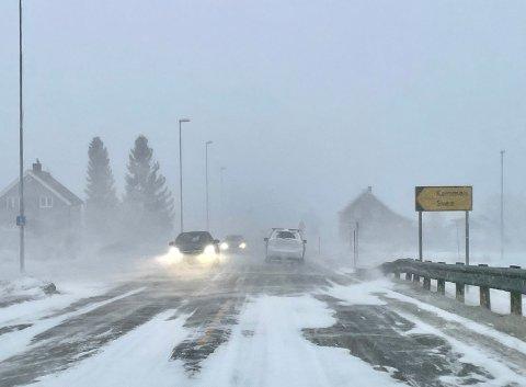 AVTOK FREDAG: Ekstremværet Frank avtok fredag ettermiddag, og fra og med mandag kan namdalingene vente seg kaldt og fint vintervær igjen.