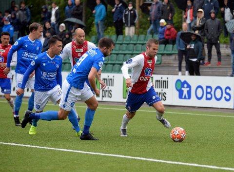 SCORET: Olav Øby scoret ett av målene da KFUM/Oslo vant 4-1 over Notodden.