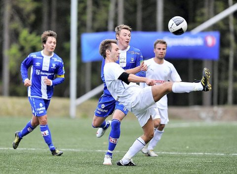I AKSJON: Christian Qvist Jacobsen i aksjon for HSV Fotball. I fjor trente han juniorlaget til Follo. Neste sesong blir han A-lagstrener.