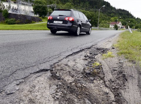 Vedlike: Det vil lønne seg å stoppe forfallet på fylesveier.