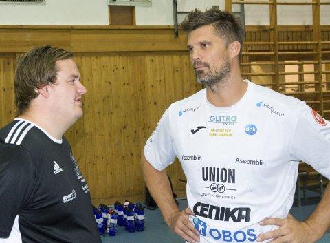 Møtte verdensstjerne: Thomas Jonsdal og LFH09 møtte Kristian Kjelling og Drammen.Foto: Petter Sand