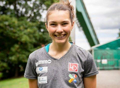 FLERE SPONRORER: Silje Opseth forteller at hun har fått litt flere sponsorer det siste året, men blir fortsatt ikke rik av hoppsporten.