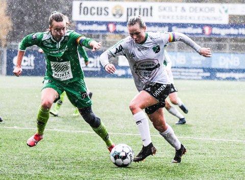 SKADET: HBK-kaptein Silje Nyhagen pådro seg en lettere hjernerystelse i lørdagens kamp mot ØHIL.
