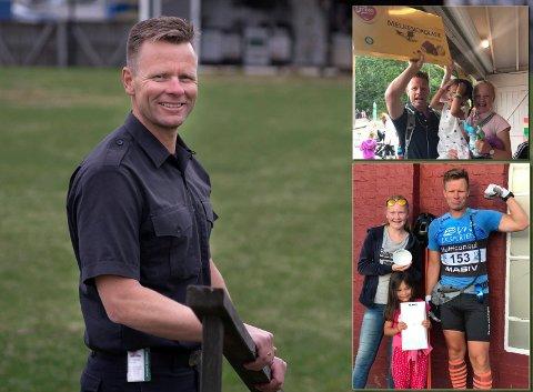 Sammen: Lars Berghagen ble 50 år i januar. På bildene på siden ser vi ekte sjokoladelykke og gleden med å ha med døtrene, Martine (15) og Lotte (7) på løp.