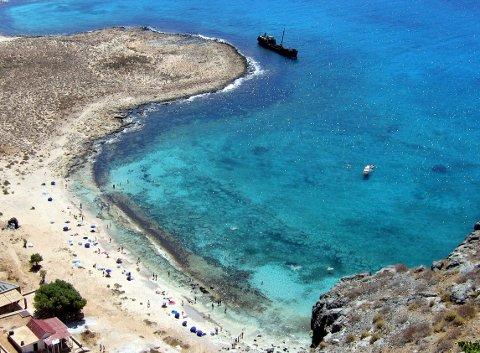 Kreta, Hellas 20040720. Strandliv på øya Gramvousa like utenfor Kreta. Ferie, sommer,  turisme, strand. Syden. Sydenturer. Foto: Gunnar Lier / Scanpix .