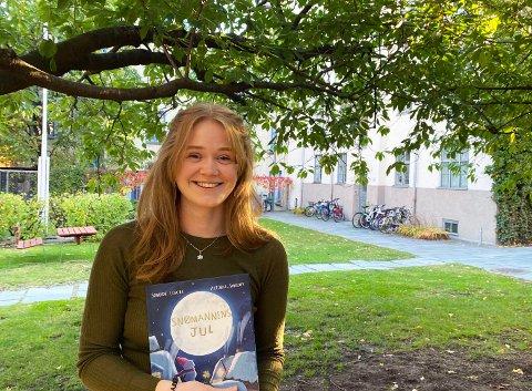Bokaktuell: Victoria Sandøy fra Sarpsborg har illustrert Sondre Lerches barnebokdebut «Snømannens jul», som gis ut på Cappelen.