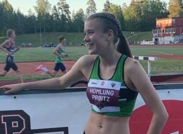 GOD START: Maiken Homlung Prøitz løp en fin 1500 meter i sesongdebuten