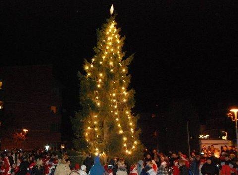 Jakten på årets julegran i Mysen er i gang.