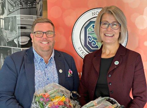 Den nye fylkeslederen i NSF, Trine Bruseth Sevaldsen, sammen med nestleder Gjermund Øysteinson Moe.