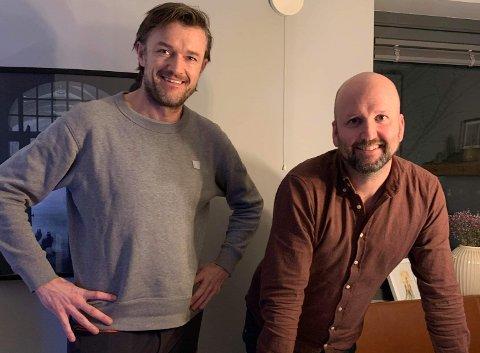 Kamerater: Anders Månum fra Leira (t.v.) og Jørgen Riiser fra Vestre Slidre har begge flyttet til Oslo, men båndene til Valdres har de fortsatt. Anders har kjøpt seg hytte på Pilset.