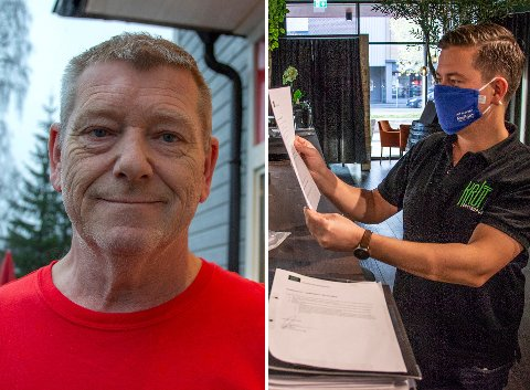 SMITTEVERNKONTROLLER: Gunnar Melby (t.v.) og Martin Ringlander sier de har gode erfaringer med kommunens smittevernkontroll.